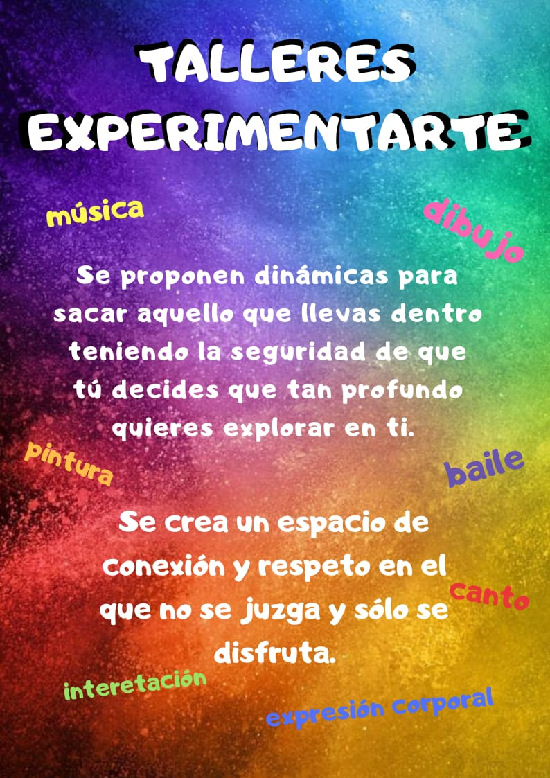 Talleres en barcelona de pintura, dibujo, baile, música, canto, interpretación y expresión corporal